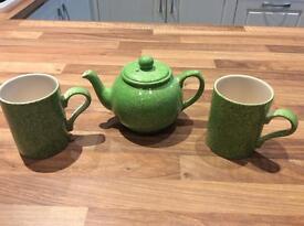 Tea for 2 - Arthur Wood hand painted china tea pot & 2 mugs