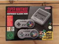 SNES Mini boxed and Mint Condition