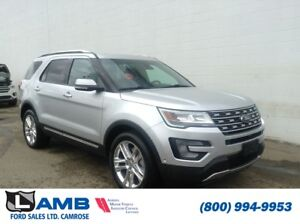 2017 Ford Explorer Limited AWD with Twin Panel Moonroof, Trailer