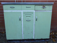 Vintage Retro 1950s 1960s Dainty Maid Kitchen Sink unit with taps
