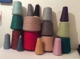 Large lot of 1ply yarn