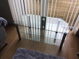 Corner glass TV unit