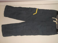 Mini-Boden boy's cargo trousers. Age 7 years. Airforce blue.