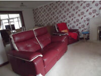 Sensational Bargain, 80% off leather Suite, Electric armchair 2 sofa's as new