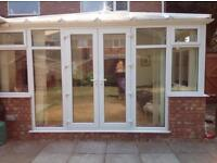 Two sided conservatory windows,doors and roof
