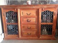Indian acacia furniture- inc side board and 2x 3 nesting tables