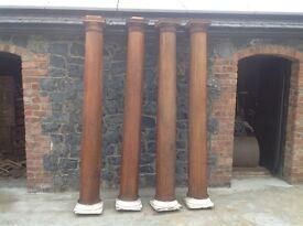 Reclaimed oak columns