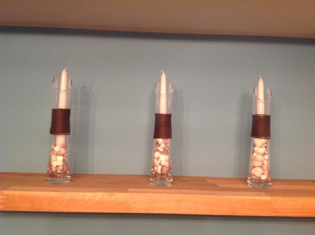 Set of 3 decorative candle holders for sale