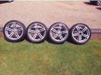 Bmw Staggered M6 18'' Alloy Wheels Part Ex Welcome ( m3 m5 Mv1 Mv2 Mv3 Mv4 m-sport) CAN POST