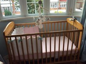 Mamas and Papas Cot and mattress used 3 times at grandparents house