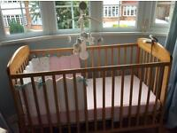 Mamas and Papas Cot and safety mattress used 3 times at grandparents house Perfect condition
