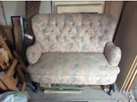 VINTAGE RETRO FLORAL SOFA upholstery project?