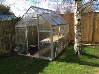 Toughened safety glass greenhouse