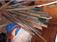 Wooden spindles suitable for decking balustrade