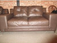Leather 3 seater and 2 seater suite for sale Ex display