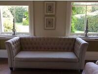 Designer chesterfield sofa hardly used was 1500