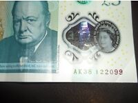 Collectable £5 note, AK38