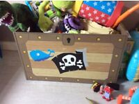 Pirate toy box from next