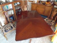 Dining Table and 4 chairs plus 2 carver chairs