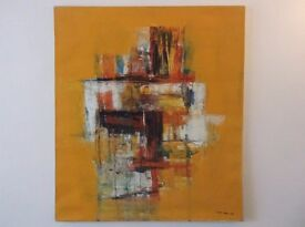 LARGE ABSTRACT MODERN ART OIL ON CANVAS PICTURE PAINTING GEOMETRIC INTERIOR DESIGN