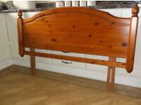 DUCAL DOUBLE HEADBOARD - from the ROSEDALE Bedroom Range - RED PINE - with lovely Victorian features