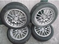 4 x dezent car tyre alloy rims for sale 15''