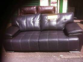 Endurance Brown Leather 3 and 2 Seater Sofa Set