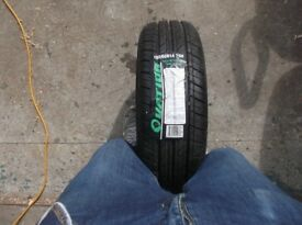 14'' x 165 x 60 car tyre - new with rim