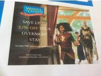 2 tickets to Warwick Castle - Sunday July 29th