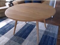 Ercol Oval Drop Leaf Table Light finish, Elm & Beech