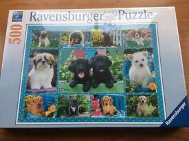 Ravensburger puppy 500 piece jigsaw £8