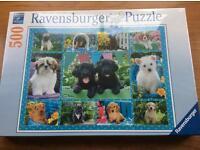 Ravensburger puppy 500 piece jigsaw £8