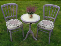 Coffe table and 2 chairs set