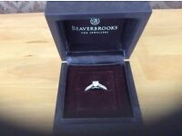 BEAUTIFUL 18ct WHITE GOLD .49ct DIAMOND ENGAGEMENT RING WITH ORIGINAL RECEIPT COST £1200 NEW