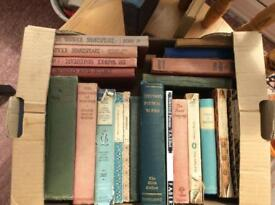 Box of classic literature and poetry