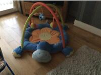 Baby playmat and swing