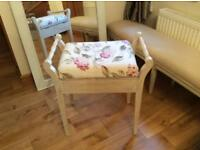 Stool ,chabby chic , piano, dressing table stool