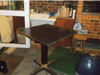 square solid wood resturant table