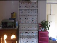 Large Billy White Ikea pattened bookcase.