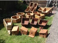 wooden planters hand made