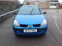 RENAULT CLIO EXRESSION 16v - 3DR - MID NIGHT BLUE - 2 OWNERS FROM - MOT - WARRANTY MILEAGE