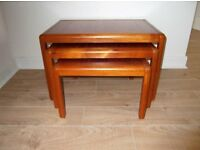 Beautiful nest of tables in very good condition