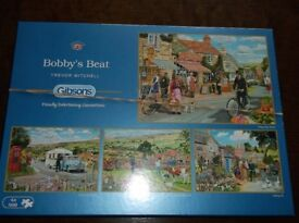 4 IN 1 SERIES OF GIBSONS 500 PIECE JIGSAWS