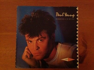 PAUL YOUNG 1983 vinyl 45rpm single WHEREVER I LAY MY HAT