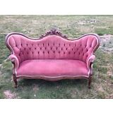 antique walnut carved Victorian sofa restored circa mid 19th century will ship