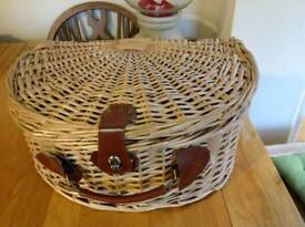 Half Moon shaped beautifully made wicker picnic basket/gift basket.New condition.