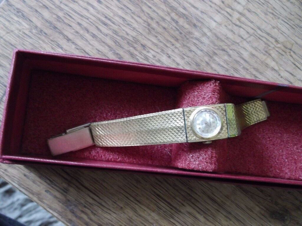 Ladies Gold Plated Cocktail Watch