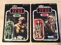 Star Wars ROTJ Han Solo and Leia Endor - Kenner Vintage Original MOC