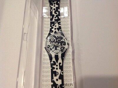 """New Swatch """"Afterdark"""" GZ204 Men's Women's Watch"""