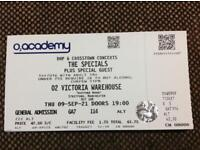 X6 The Specials tickets